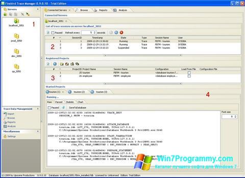 Скриншот программы Firebird для Windows 7