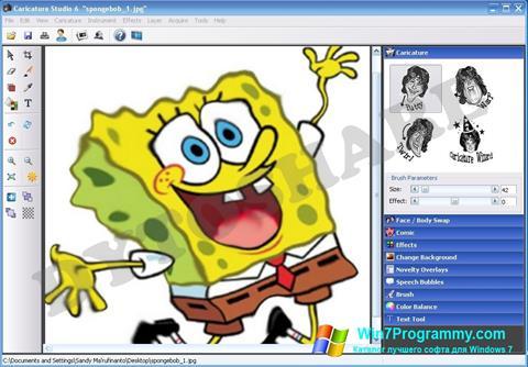 Скриншот программы Caricature Studio для Windows 7