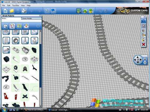 Скриншот программы LEGO Digital Designer для Windows 7
