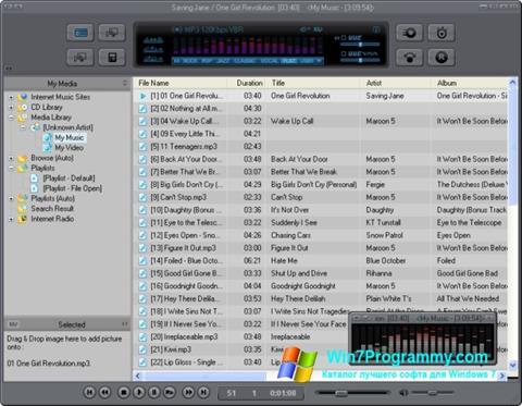Скриншот программы JetAudio для Windows 7