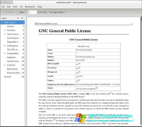 Скриншот программы Evince для Windows 7
