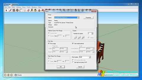 Скриншот программы Google SketchUp для Windows 7