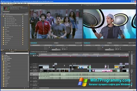 Скриншот программы Adobe Premiere Pro для Windows 7
