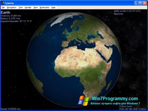 Скриншот программы Celestia для Windows 7