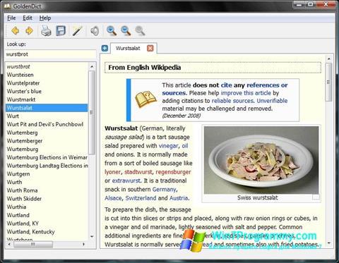 Скриншот программы GoldenDict для Windows 7