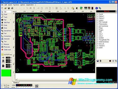 Скриншот программы Sprint Layout для Windows 7
