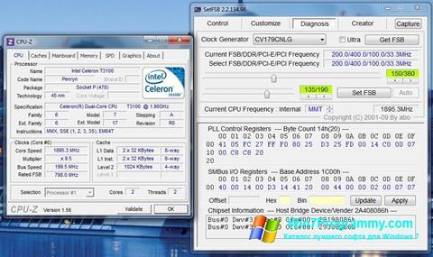 Скриншот программы SetFSB для Windows 7