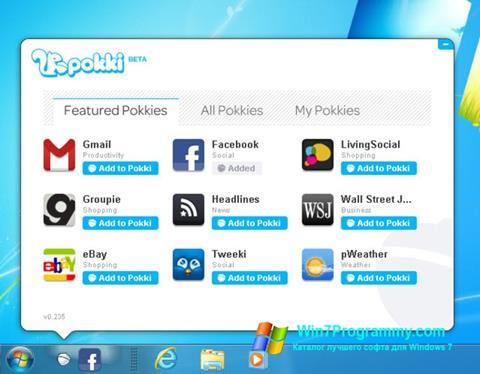Скриншот программы Pokki для Windows 7