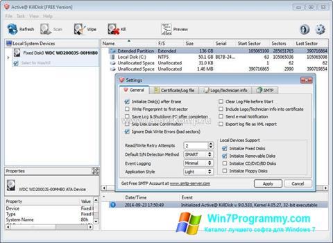 Скриншот программы Active KillDisk для Windows 7