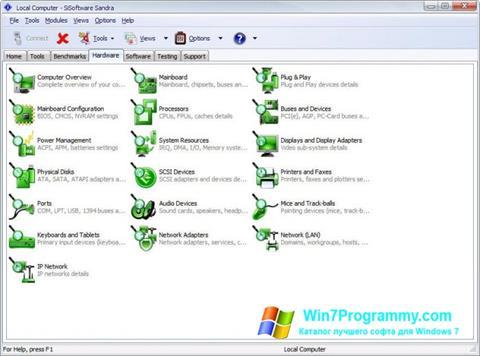 Скриншот программы SiSoftware Sandra для Windows 7