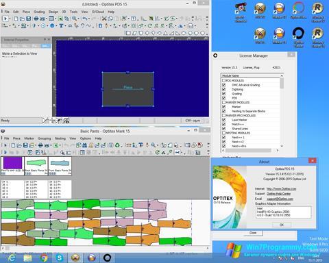 Скриншот программы OptiTex для Windows 7
