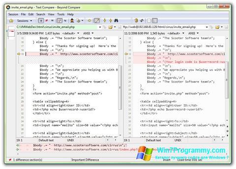 Скриншот программы Beyond Compare для Windows 7