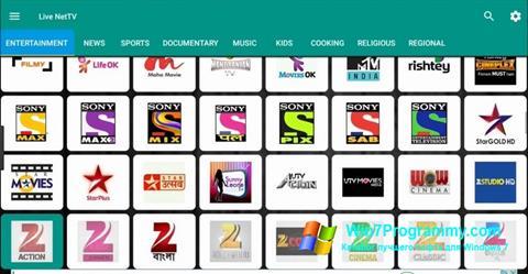 Скриншот программы Net TV для Windows 7