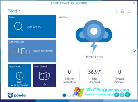 Скриншот программы Panda Internet Security для Windows 7