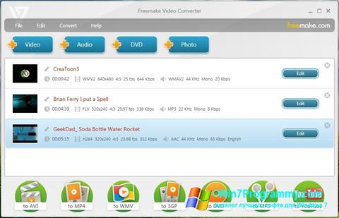 Скриншот программы Freemake Video Converter для Windows 7