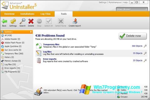 Скриншот программы Ashampoo UnInstaller для Windows 7