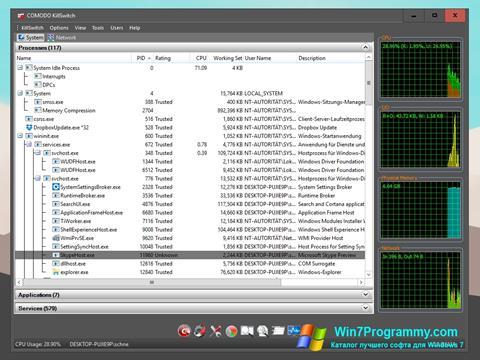 Скриншот программы Comodo Cleaning Essentials для Windows 7