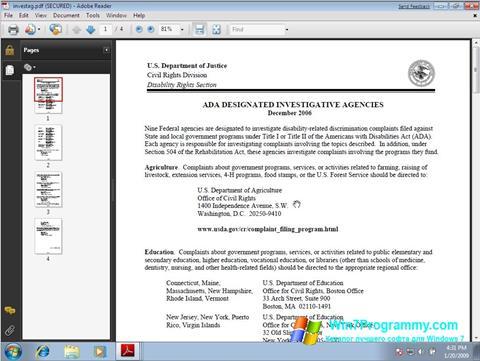 Скриншот программы Adobe Reader для Windows 7