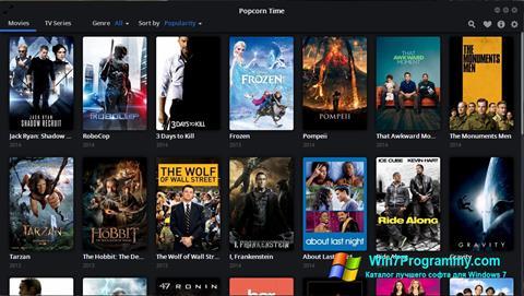 Скриншот программы Popcorn Time для Windows 7