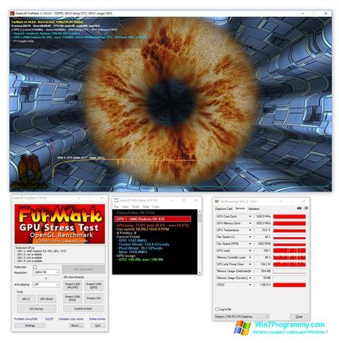 Скриншот программы FurMark для Windows 7