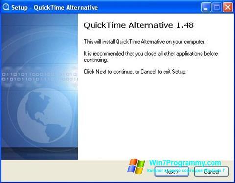 Скриншот программы QuickTime Alternative для Windows 7
