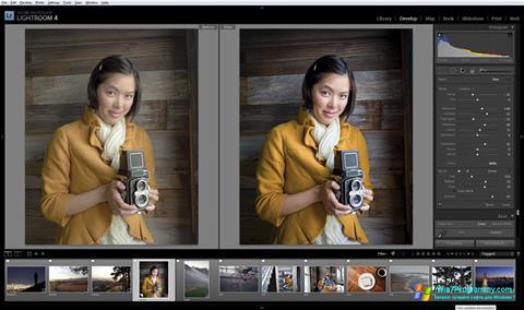 Скриншот программы Adobe Photoshop Lightroom для Windows 7