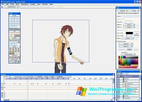 Скриншот программы Anime Studio для Windows 7