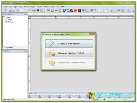 Скриншот программы AutoPlay Media Studio для Windows 7