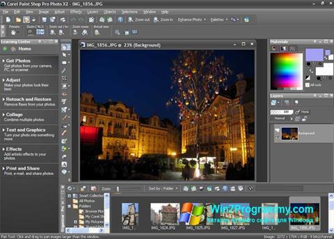 Скриншот программы PaintShop Pro для Windows 7