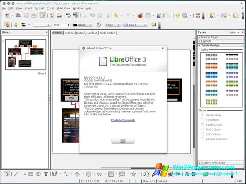 Скриншот программы LibreOffice для Windows 7