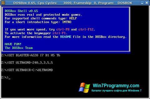 Скриншот программы DOSBox для Windows 7