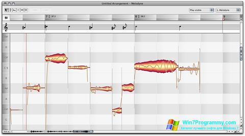 Скриншот программы Melodyne для Windows 7