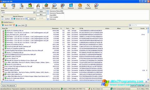 Скриншот программы eMule для Windows 7