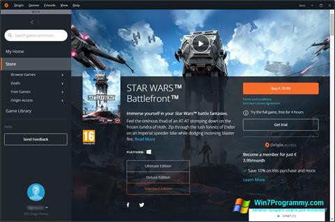 Скриншот программы Origin для Windows 7