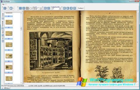 Скриншот программы DjVu Reader для Windows 7