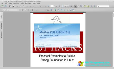 Скриншот программы Master PDF Editor для Windows 7