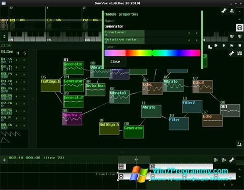 Скриншот программы SunVox для Windows 7