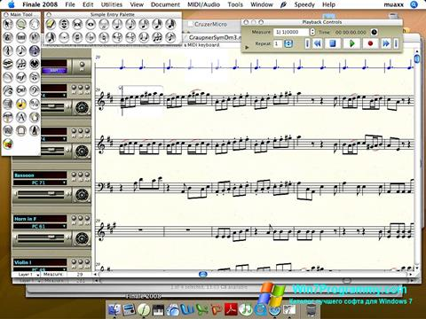 Скриншот программы Finale для Windows 7