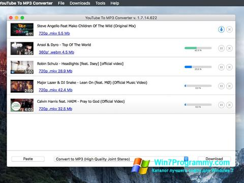Скриншот программы Free YouTube to MP3 Converter для Windows 7
