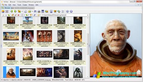 Скриншот программы XnView для Windows 7