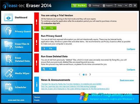 Скриншот программы East Tec Eraser для Windows 7