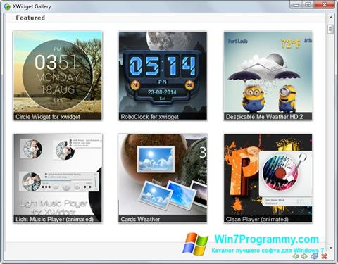 Скриншот программы XWidget для Windows 7