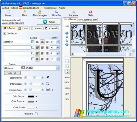 Скриншот программы Posteriza для Windows 7