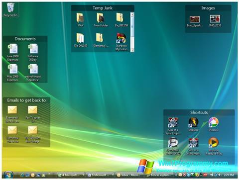 Скриншот программы Fences для Windows 7