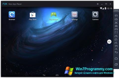 Скриншот программы Nox App Player для Windows 7