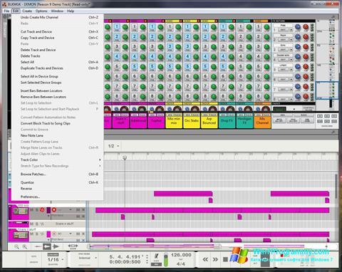 Скриншот программы Reason для Windows 7