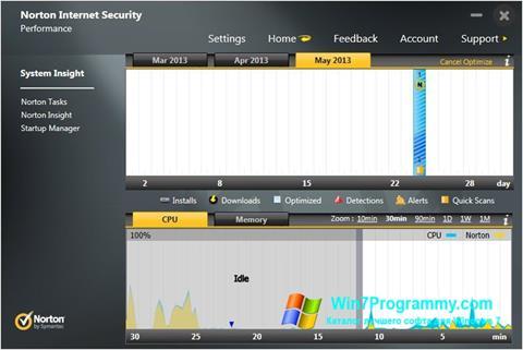 Скриншот программы Norton Internet Security для Windows 7