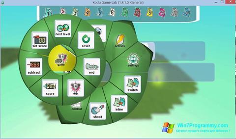 Скриншот программы Kodu Game Lab для Windows 7