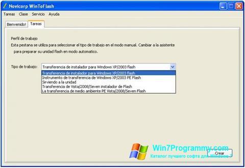 Скриншот программы WinToFlash для Windows 7