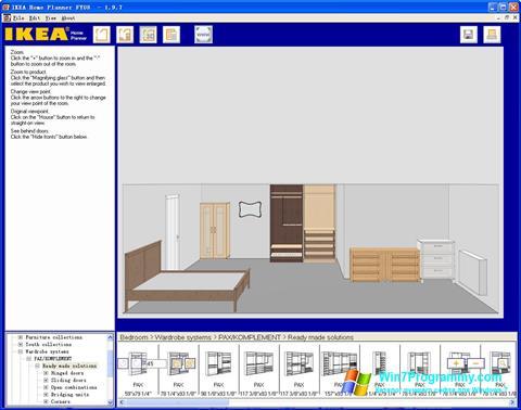 Скриншот программы IKEA Home Planner для Windows 7